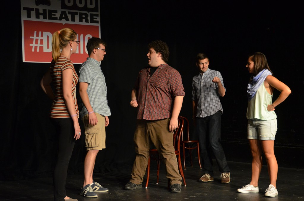 From left to right: Lauren Magnuson, Todd Page, Ben Lewis, Matt Aromando, Francesca Villa. Photo by Laura Miner.