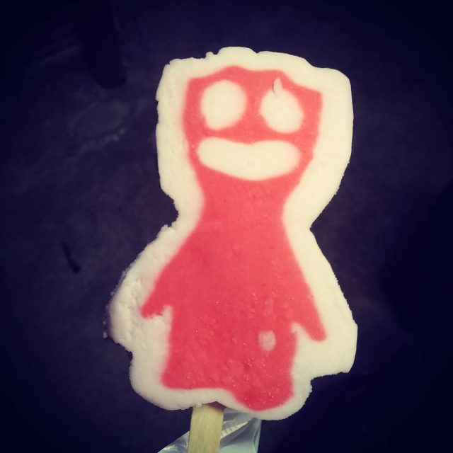 This frighting little guy is a Sour Patch Kid Popsicle