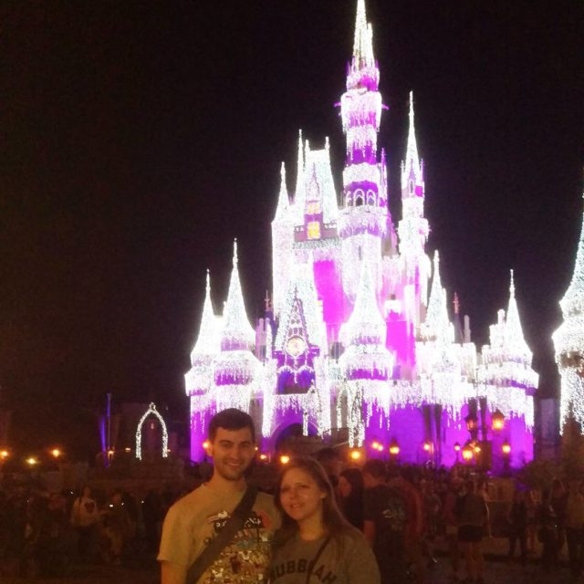 Me and Laura in front of Cinderellas Castle