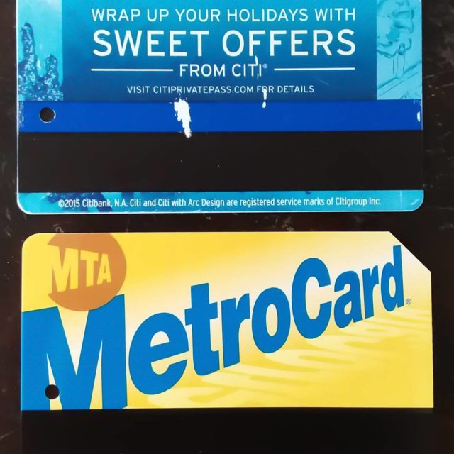 For a year I had this weird MetroCard on tophellip