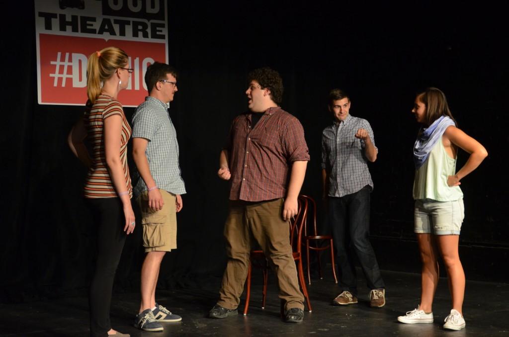 From left to right: Lauren Magnuson, Todd Page, Ben Lewis, Matt Aromando, Francesca Villa. Photo by Laura Miner.