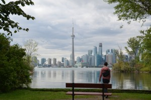 Matt, looking at Toronto from the Toronto Islands. (Photo by Laura Miner.)