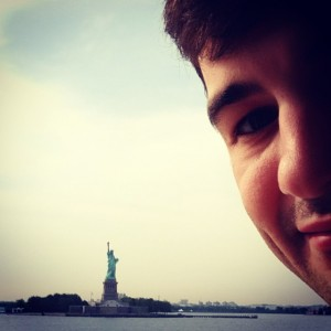 Matt and the Statue of Liberty